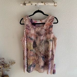 Coldwater Creek Floral Short Sleeve Top